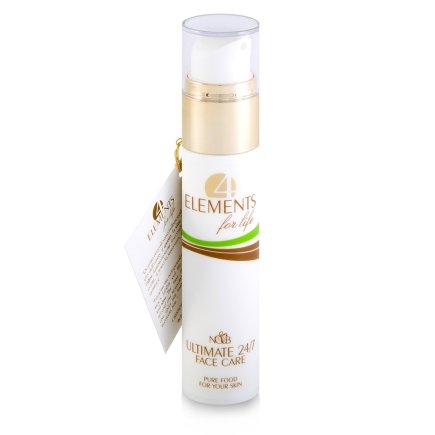 Cremă organică antirid, protecție și hrană 24 de ore, 4 Elements for Life, 50ml